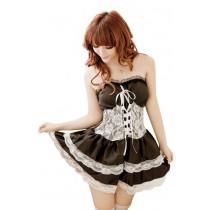 Váy Ngủ Gợi Cảm 1077 (Đen Viền Trắng)