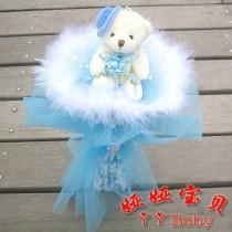 Hoa Gấu Bông Tuyết Xanh